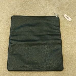 NWT Victoria's Secret leather foldable clutch